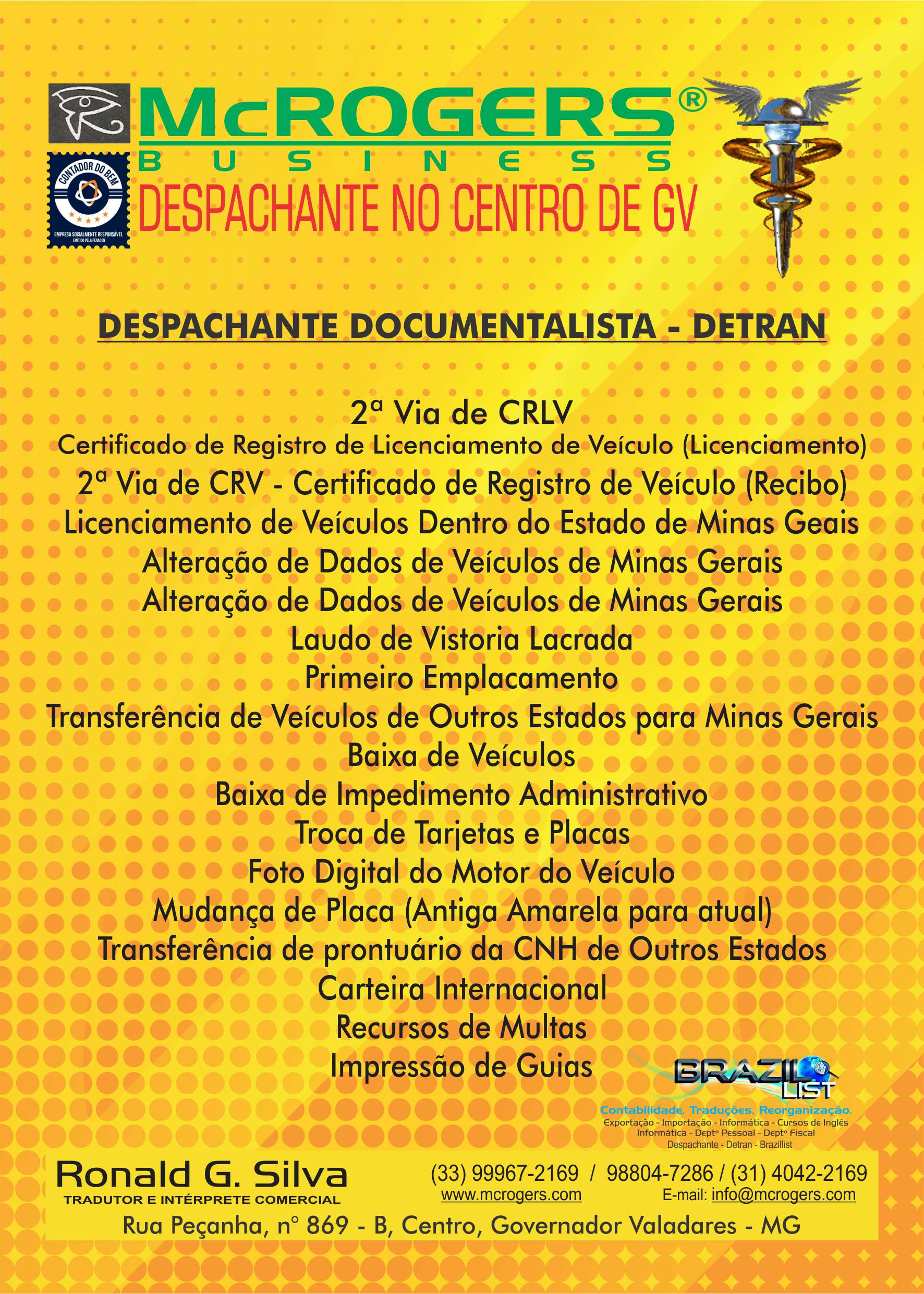 Despachante do Detran - MG